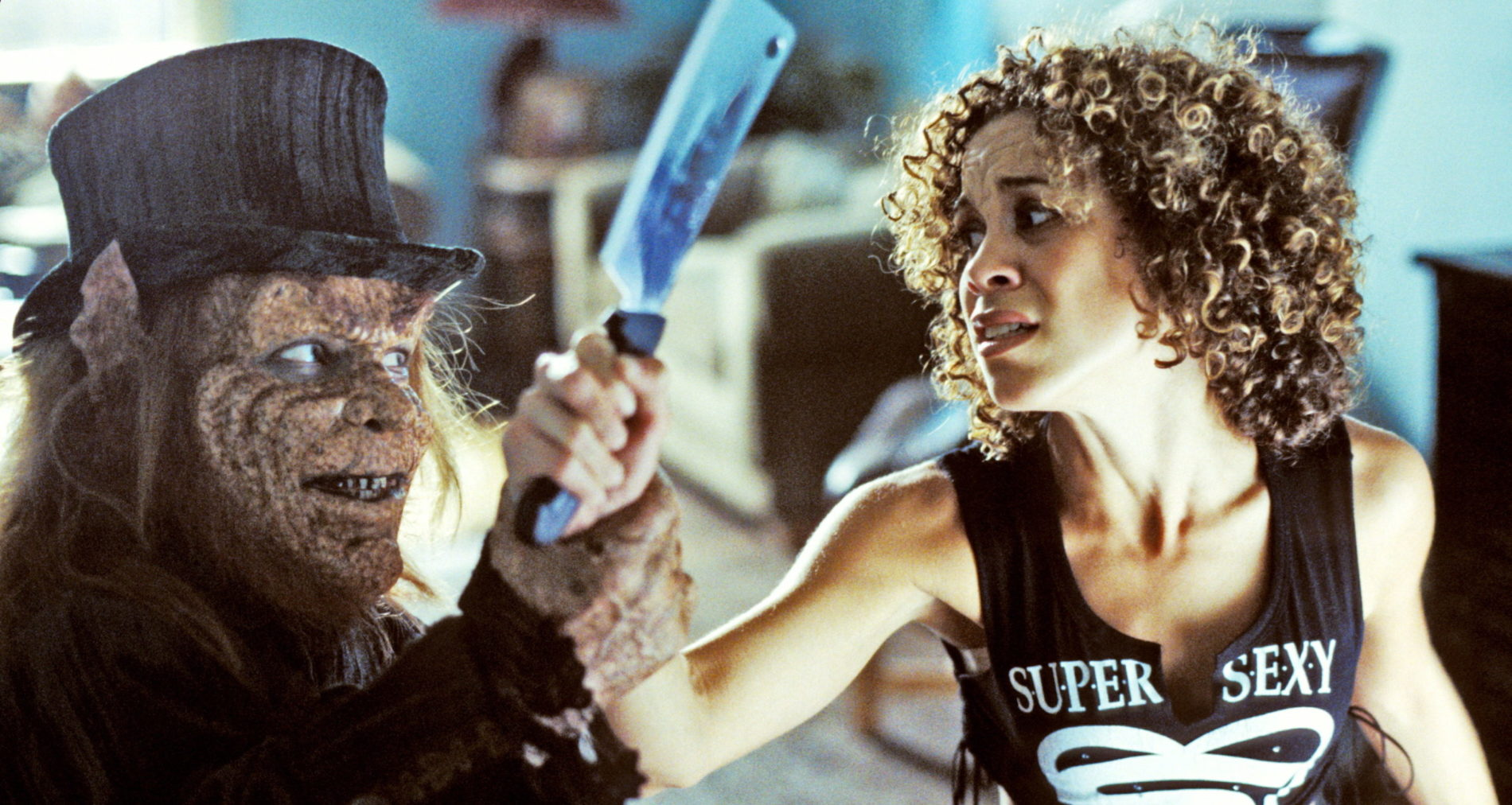 Warwick Davis and Sherrie Jackson in Leprechaun: Back 2 tha Hood