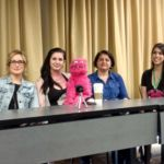 Lisa Durupt, Lisa Ovies, Simon, Michelle Muldoon, and Gigi Saul Guerrero from Puppet Killer